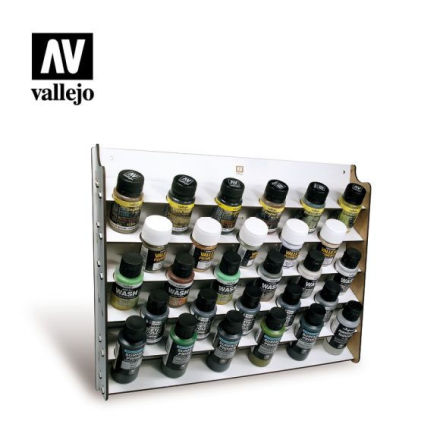 Wall mounted paint display for 28 x 35 ml (empty)