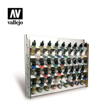 Wall mounted paint display for 43 x 17 ml (empty)