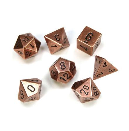 Metal Copper 7 Die Polyhedral Set