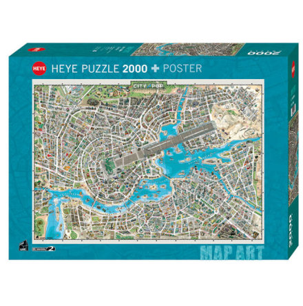 Map Art: City of Pop (2000 Pieces)