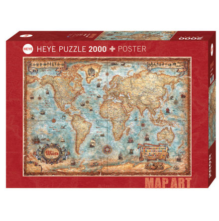 Map Art: The World (2000 Pieces)
