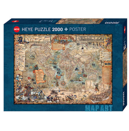 Map Art: Pirate World (2000 Pieces)