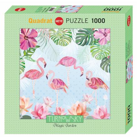 Flamingos & Lilies, Turnowsky (Square 1000 pieces)