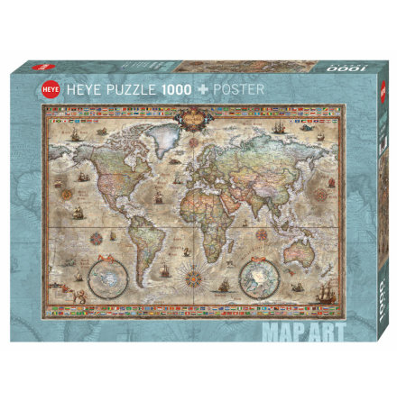 Map Art: Retro World (1000 pieces)