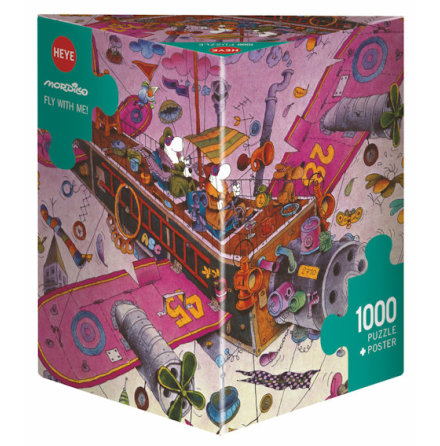 Mordillo: Fly with me! (1000 pieces triangular box)