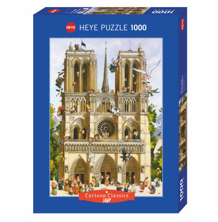 Cartoon Classics: Vive Notre Dame! (1000 pieces)
