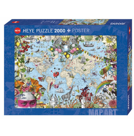 Map Art: Quirky World (2000 pieces)