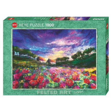 Felted Art: Sundown Poppies (1000 pieces)