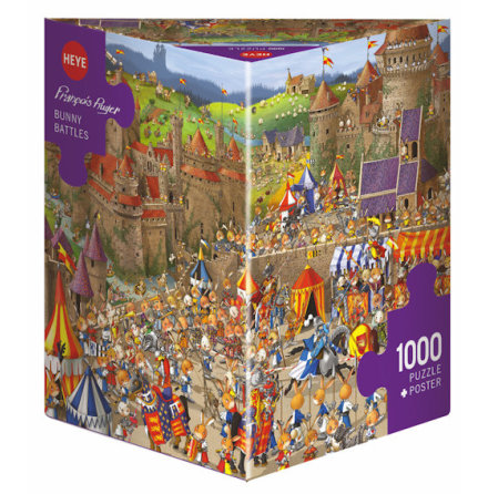 Ruyer: Bunny Battles (1000 pieces triangular box)